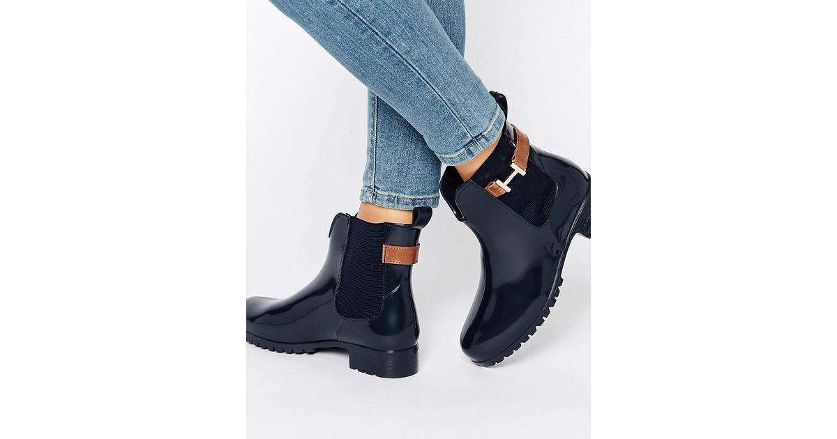tommy hilfiger oxley chelsea boot gumboots navy in blue. Black Bedroom Furniture Sets. Home Design Ideas
