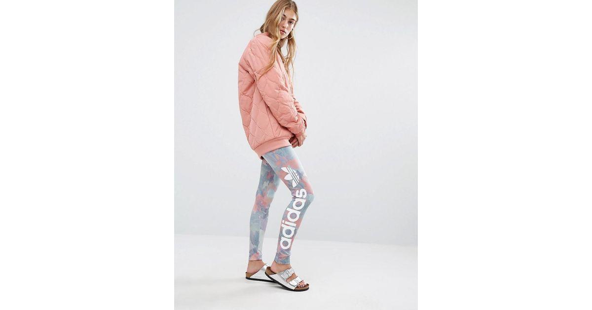 Adidas originals Originals Pastel Camo Print Leggings   Lyst