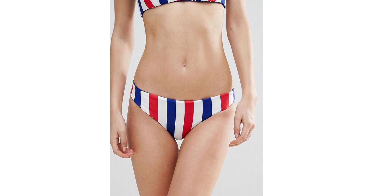 68fa008250 Bikini Lab Reversible Stars Stripes Bralette Bikini Bottom in Blue - Lyst