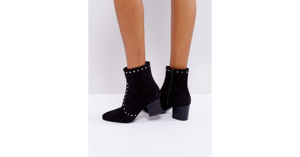 Truffle Collection High Ankle Stud Sock Boots sP6QnB6s