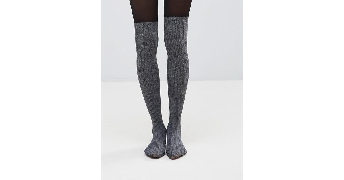 c0bfc6c075f Pretty Polly Marl Secret Sock in Gray - Lyst