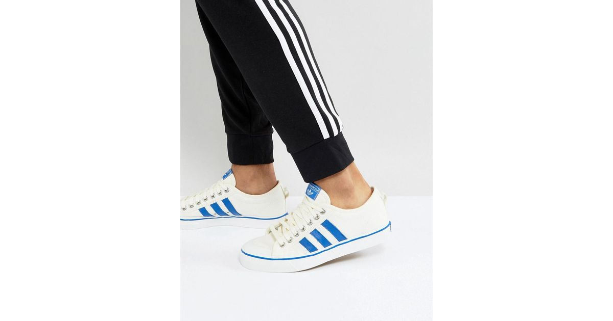 best loved d640e 1184c Lyst - adidas Originals Adidas Originals Nizza Lo Sneakers In White Bz0489  in White