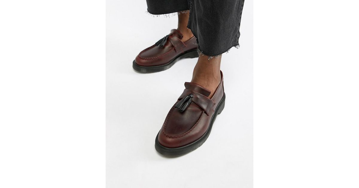 920db702b83 Lyst - Dr. Martens Adrian Tassel Loafers In Deep Red in Red for Men