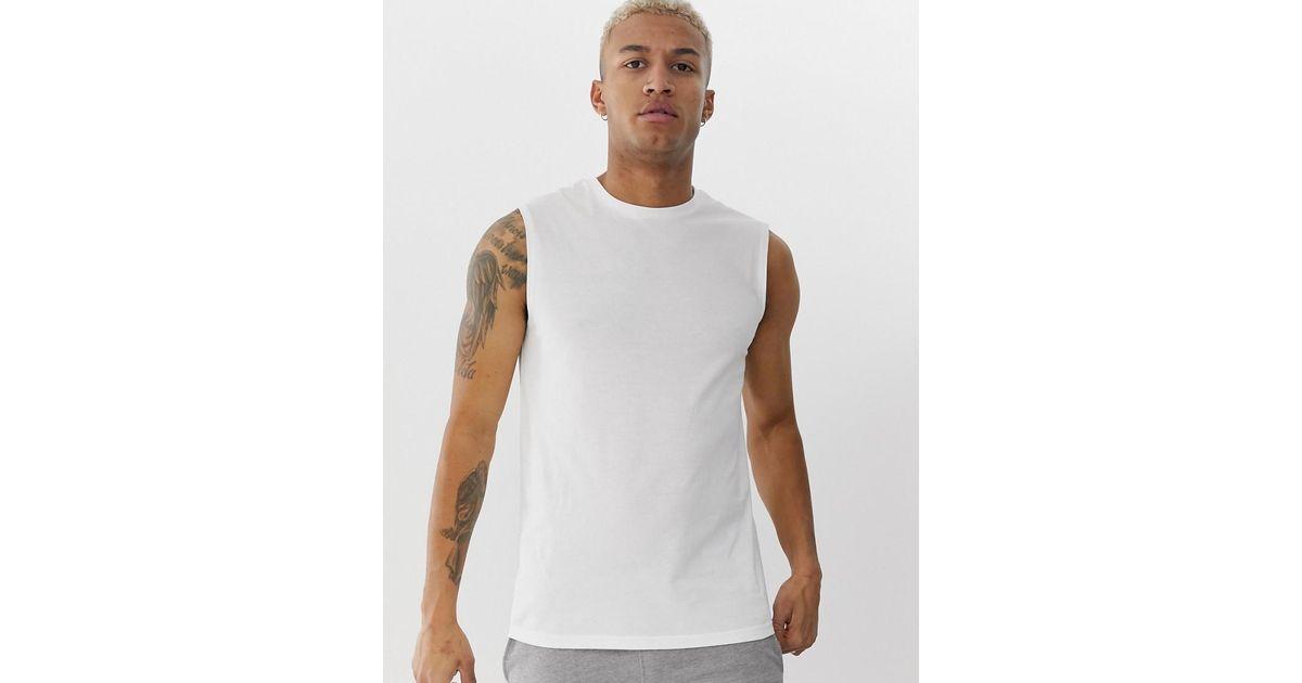 1118fb3e246ea2 ASOS Organic Tank Singlet In White in White for Men - Lyst