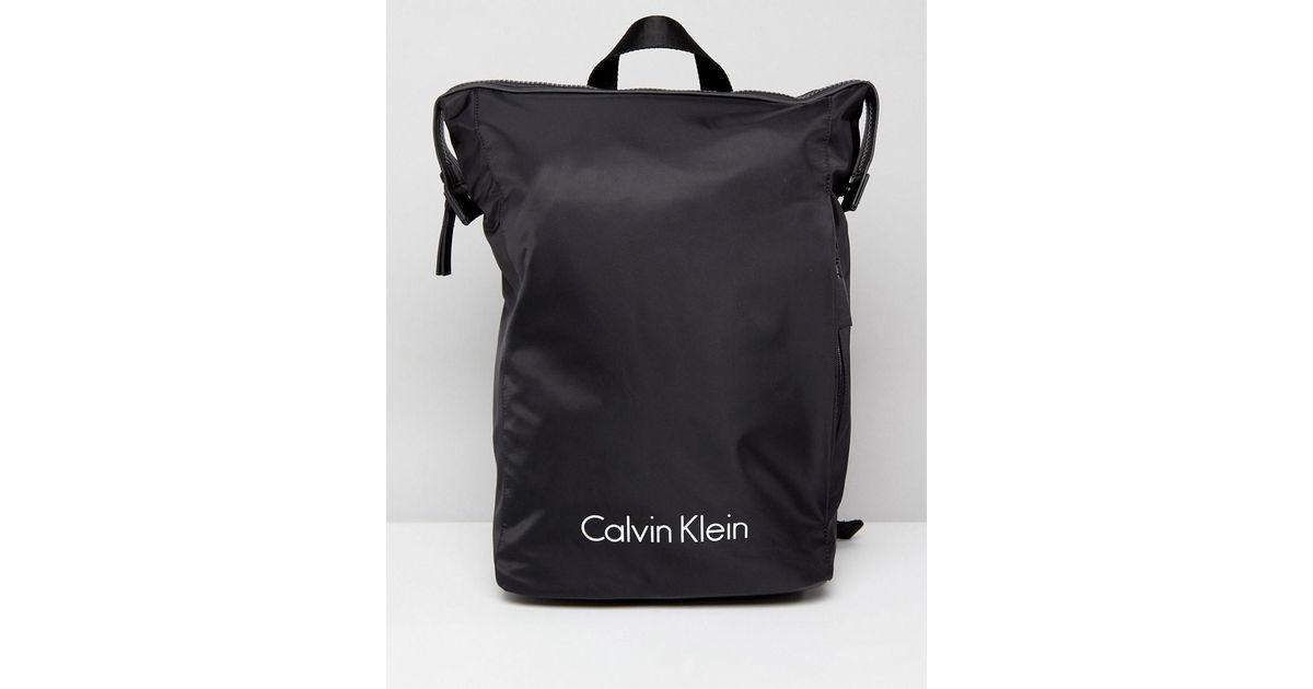 765108db39e3 Calvin Klein Blithe Backpack In Black in Black for Men - Lyst