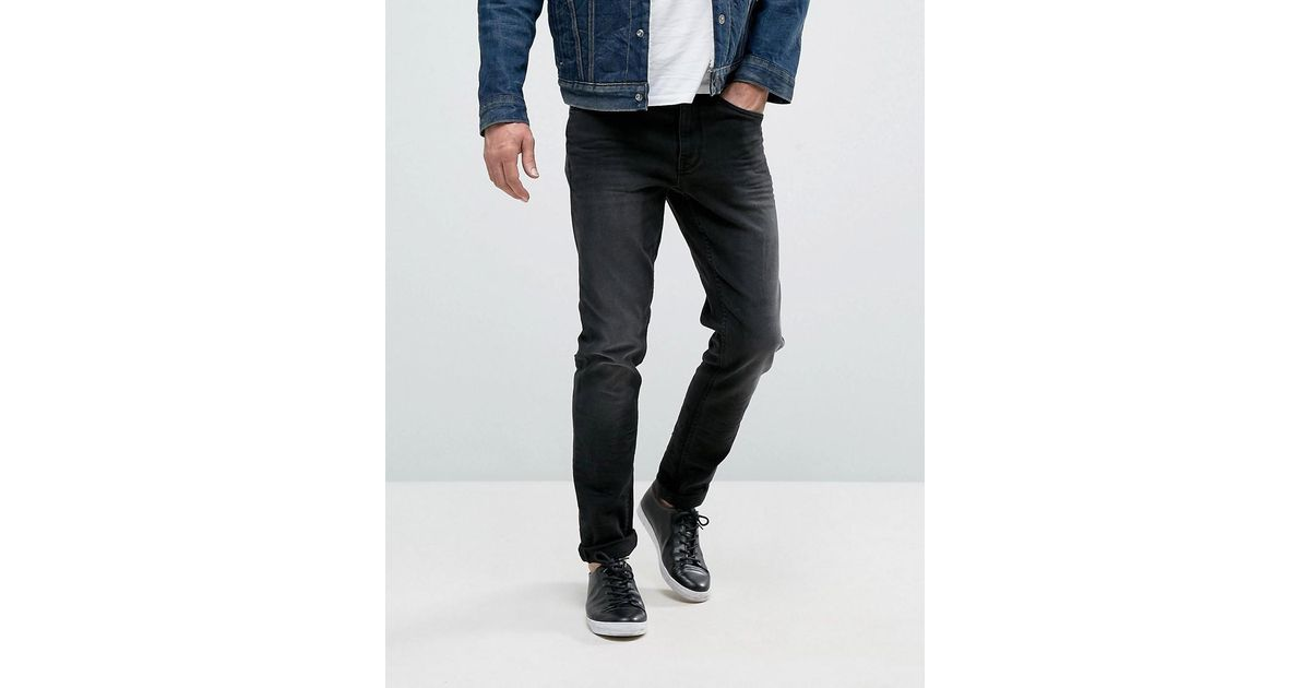 Casual friday jeans in slim fit in black for men lyst for Mens dress shirts black friday