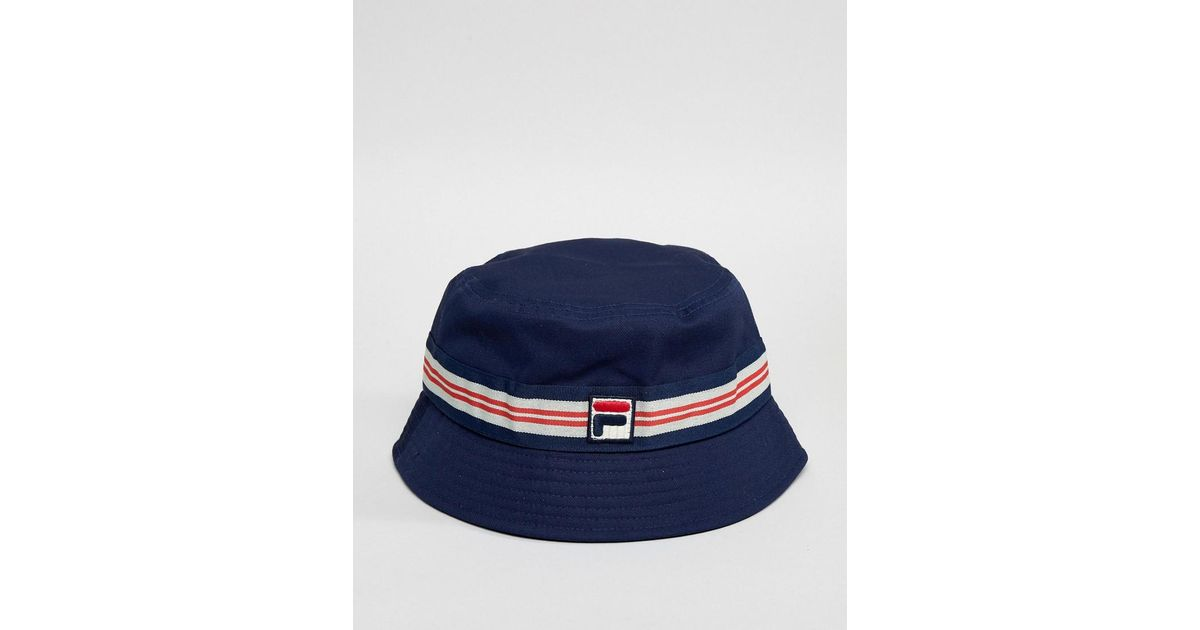 d3b8f03e493 Lyst - Fila Casper Bucket Hat In Navy in Blue for Men