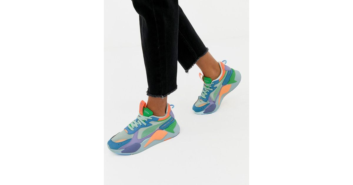 8d561dcd02c30 PUMA Rs-x Toys Green And Blue Trainers in Green - Lyst