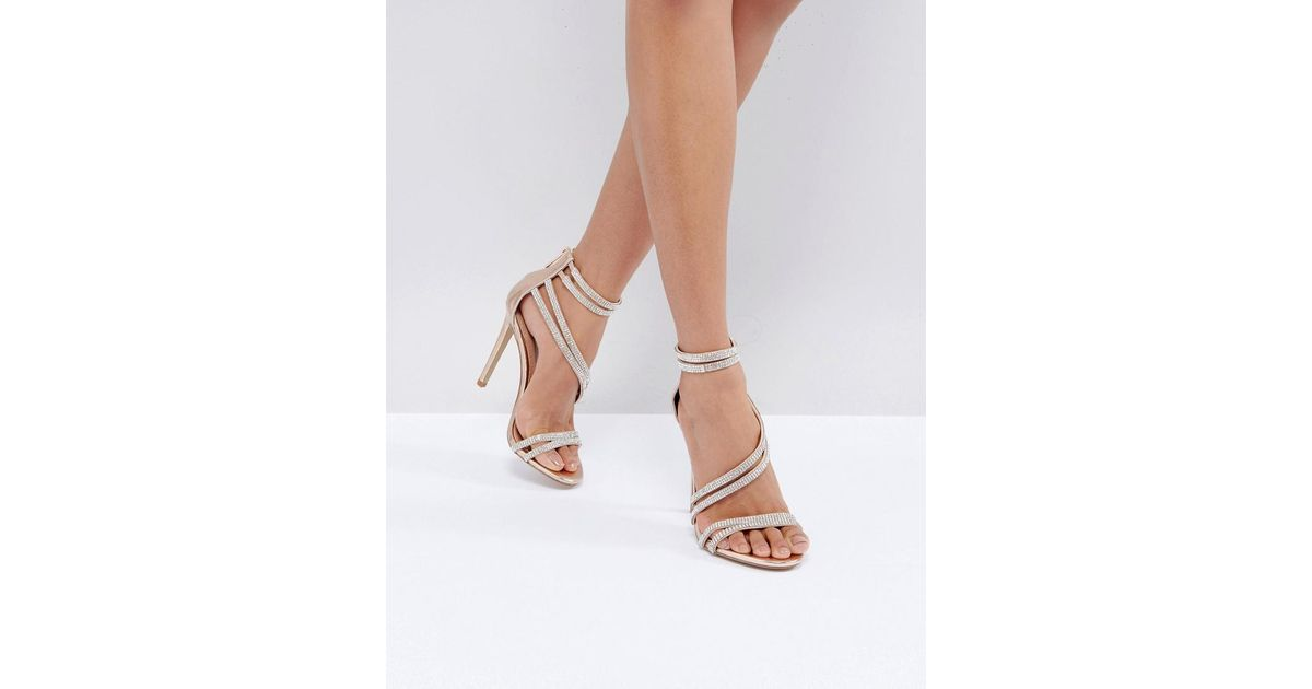 8674056b49e Lyst - Steve Madden Sweetest Rose Gold Heeled Sandals in Metallic