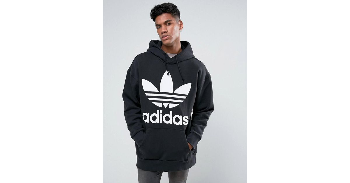 cheap sale elegant and graceful outlet for sale Adidas Originals - Boxy Hoodie In Black Br5078 for Men - Lyst