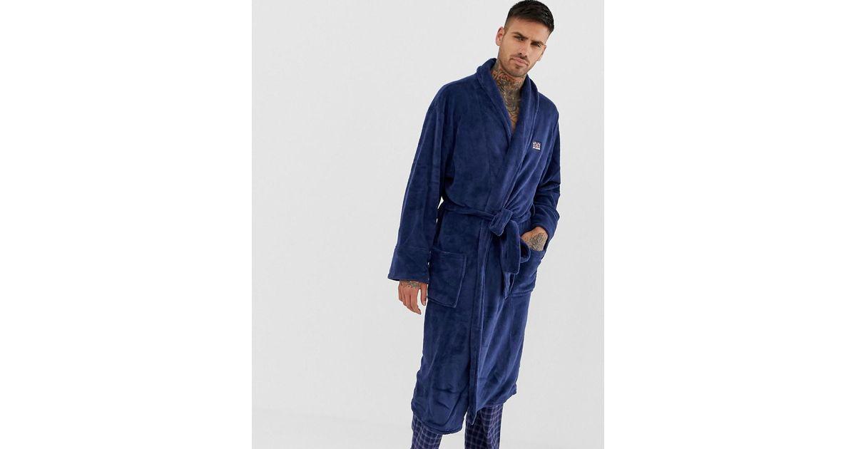 Ben Sherman Robe In Navy in Blue for Men - Lyst 00aa663e1