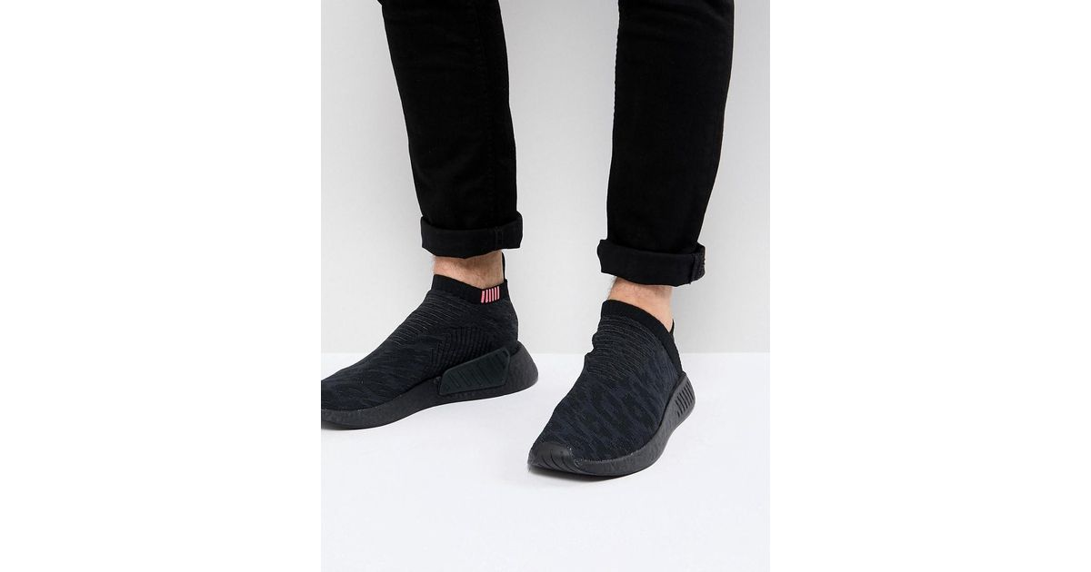 66c81758c88d Lyst - adidas Originals Nmd Cs2 Primeknit Boost Sneakers In Black Cq2373 in  Black for Men
