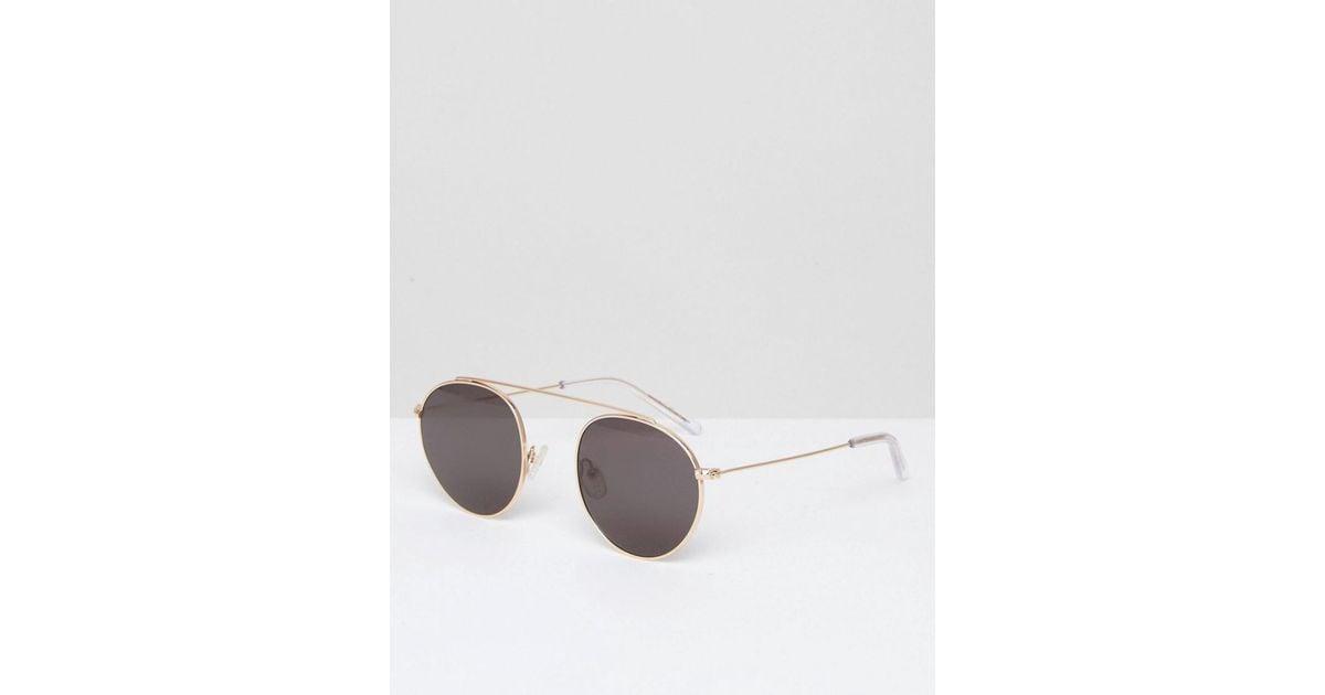bdafa8eb1b742 Monokel Eyewear Monokel Round Aviator Sunglasses Iota In Gold in Metallic  for Men - Lyst