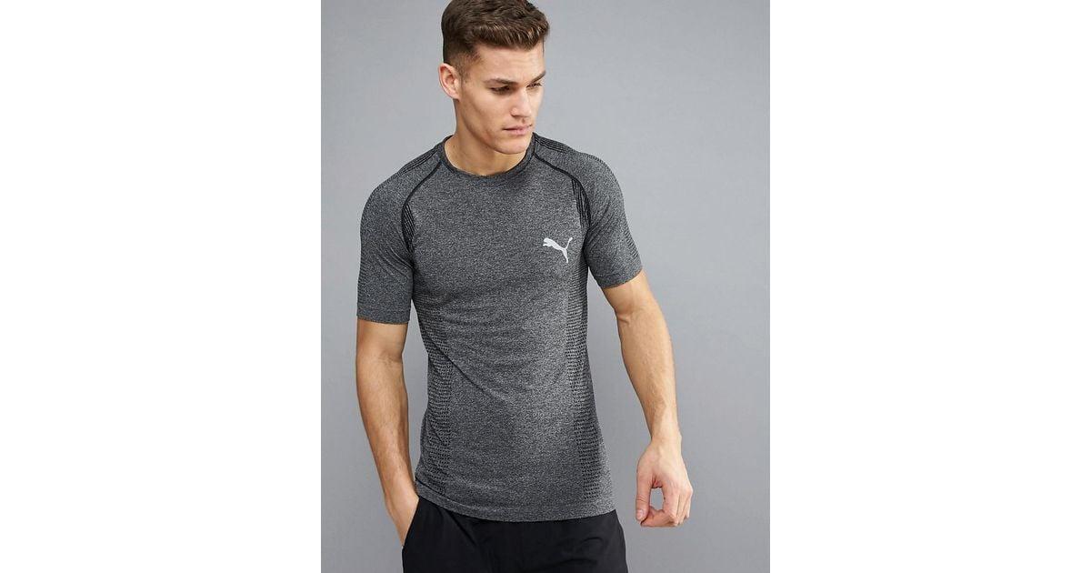 ddeb293f3fb PUMA Running Evoknit Basic T-shirt In Gray 59063201 in Gray for Men - Lyst