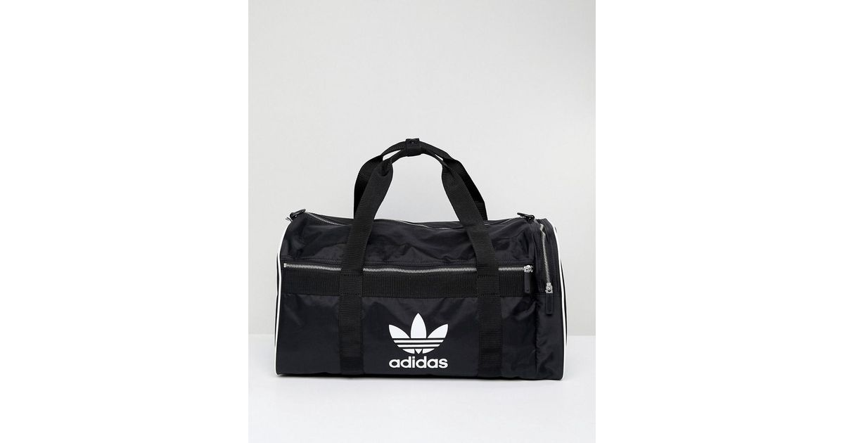 58d8830116 adidas Originals Originals Travel Bag With Trefoil Logo in Black - Lyst