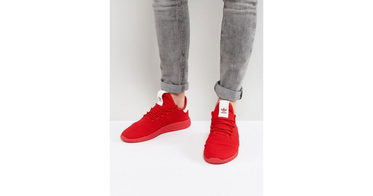 eb318b140 adidas Originals X Pharrell Williams Tennis Hu Trainers In Red By8720 in  Red for Men - Lyst