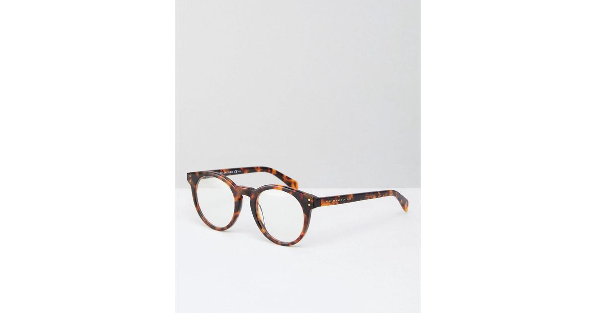 02ad045e113 Marc By Marc Jacobs Clear Lens Glasses in Brown - Lyst