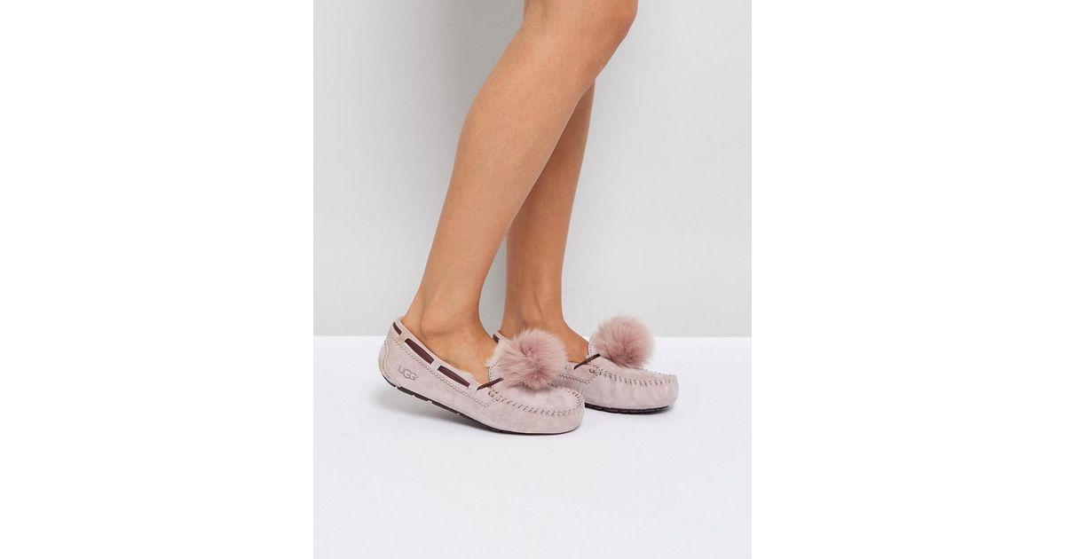 5ce5238e1766 UGG Dakota Pom Pom Dusk Slippers in Pink - Lyst