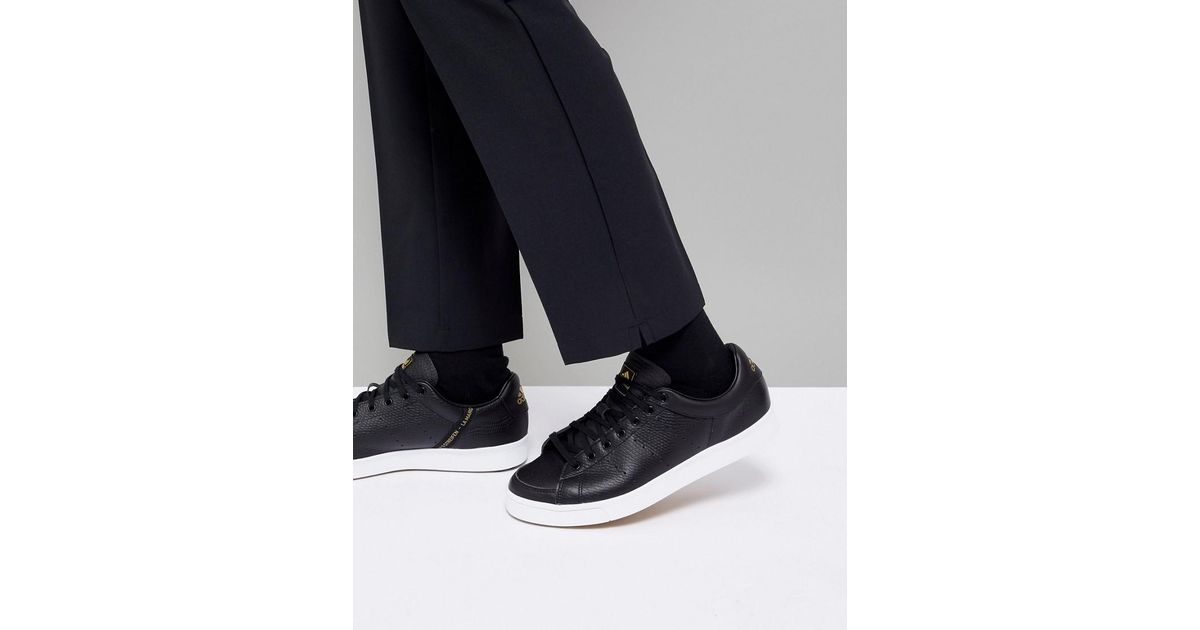 purchase cheap 1e7f5 a93db adidas Originals Adicross Classic Leather In Black F33778 in Black for Men  - Lyst