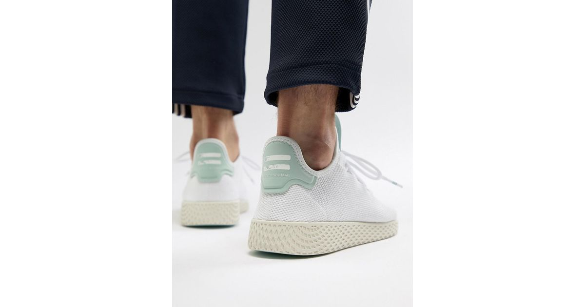 6639f13998a68 Lyst - adidas Originals Pharrell Williams Tennis Hu Sneakers In White Cq2168  in White for Men