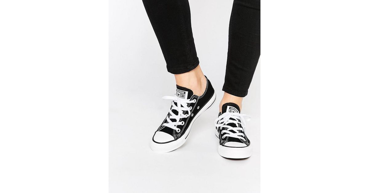 half off cb7f3 9c614 Lyst - Converse Chuck Taylor All Star Core Black Ox Sneakers in ... converse