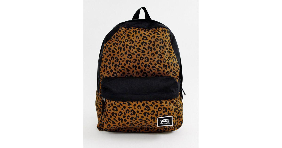 0aa6d8d6fbd Vans Leopard Print Realm Classic Backpack - Lyst