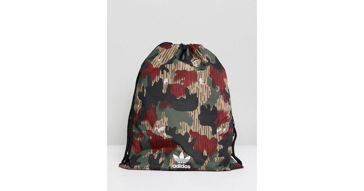 Adidas Motif À Serrage De Sac Camouflage Cordon Ctvquv Lyst Originals vdxEFw