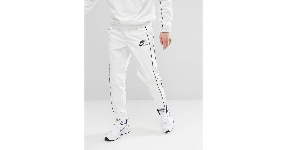 bb2d52051686d Lyst - Pantalon de jogging boutons-pression Nike pour homme en coloris Blanc
