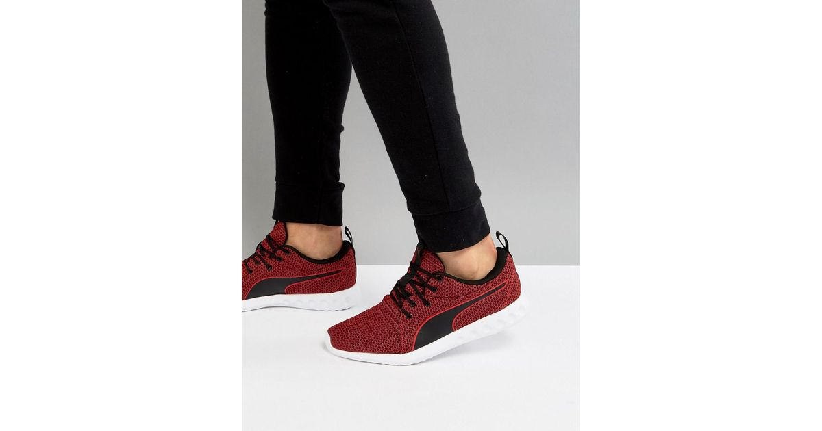40d5cae059a0 Lyst - PUMA Running Carson 2 Knit Sneakers In Burgundy 19003902 in Red for  Men