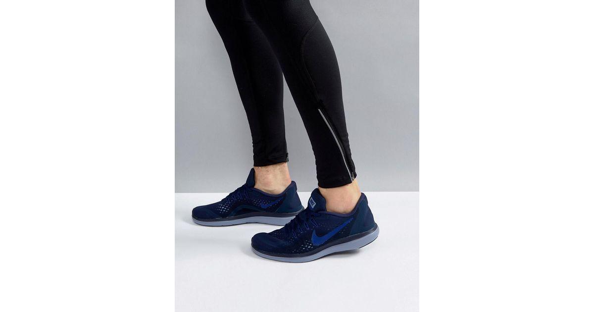 dfbb22b1609 Nike Flex 2017 Rn Sneakers In Navy 898457-404 in Blue for Men - Lyst