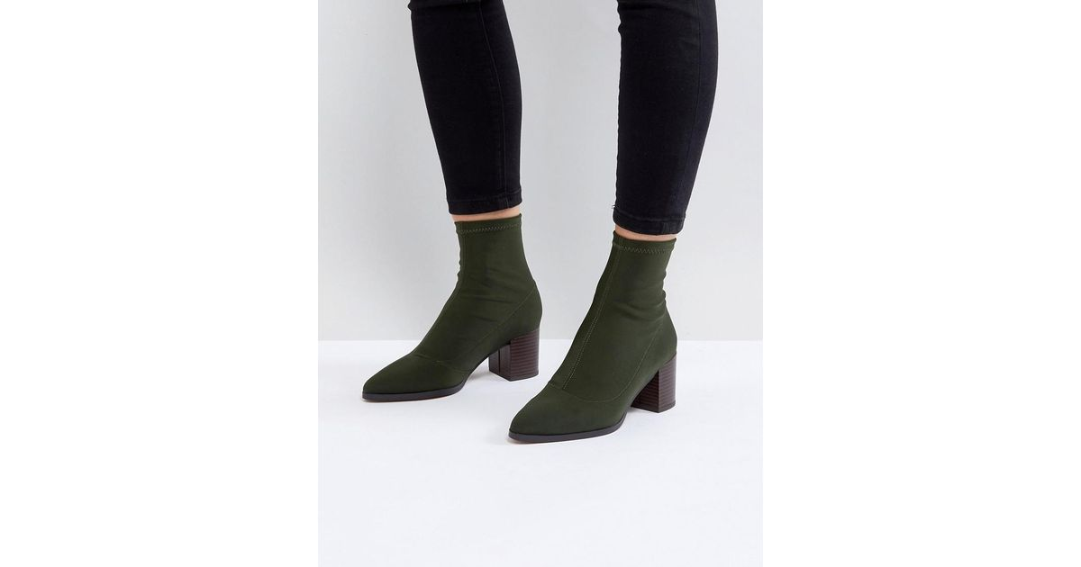 ASOS RICKY Mid Heeled Sock Boots UhZnXT29w