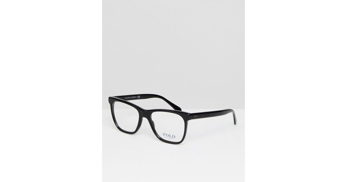Polo Ralph Lauren Square Optical Frames With Demo Lenses In Black ...