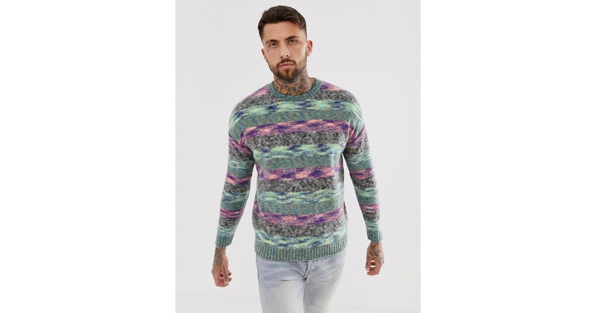 cbc3af893916 ASOS Oversized Knitted Jumper With Ombre Effect for Men - Lyst