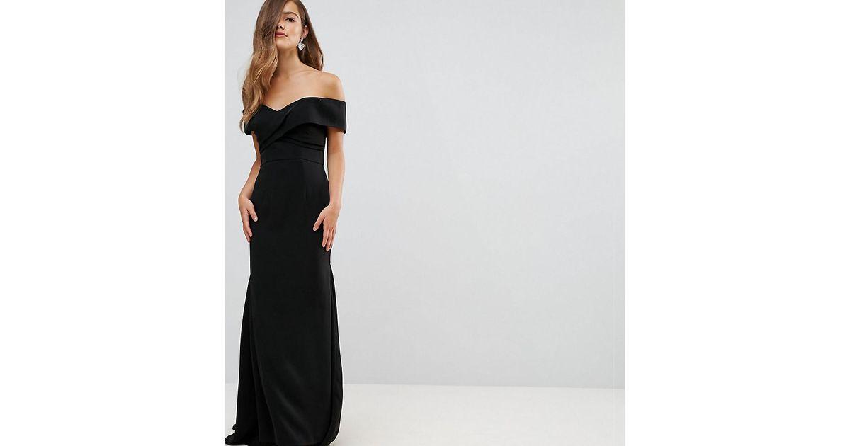 1b1086349034 Jarlo Off Shoulder Overlay Maxi Dress in Black - Lyst