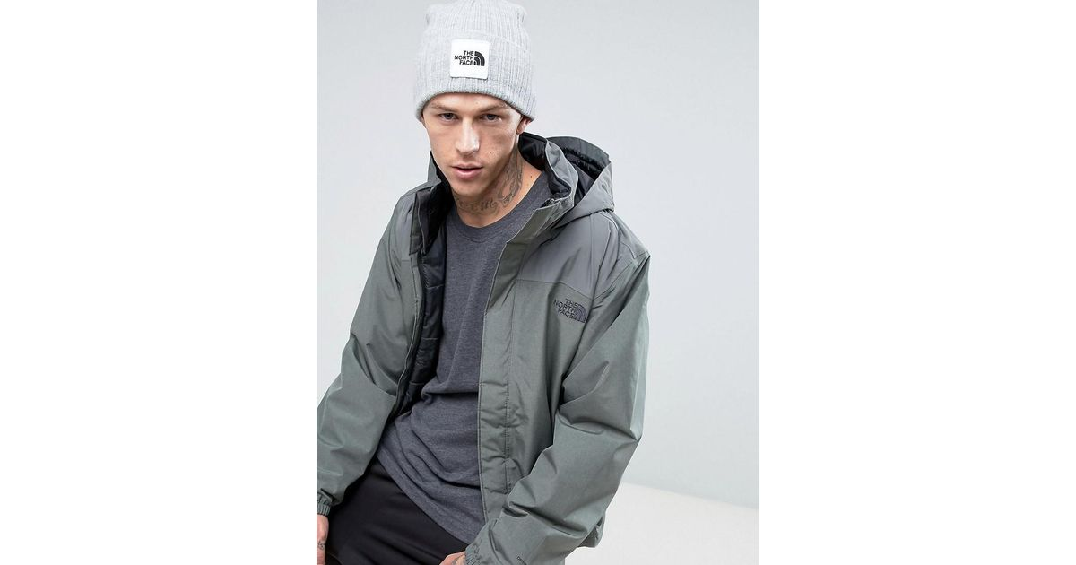 1f70242b807 Lyst - The North Face Box Logo Cuffed Beanie In Grey in Gray for Men