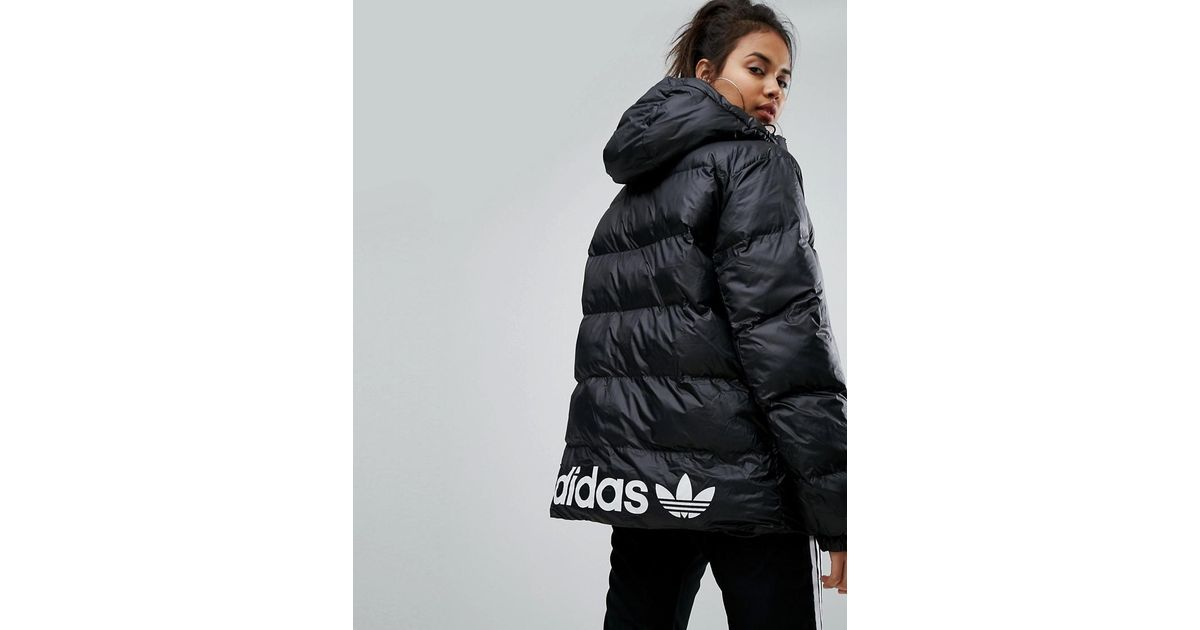 fdd96d2c10fc Lyst - adidas Originals Originals Oversized Padded Jacket With Hood in Black