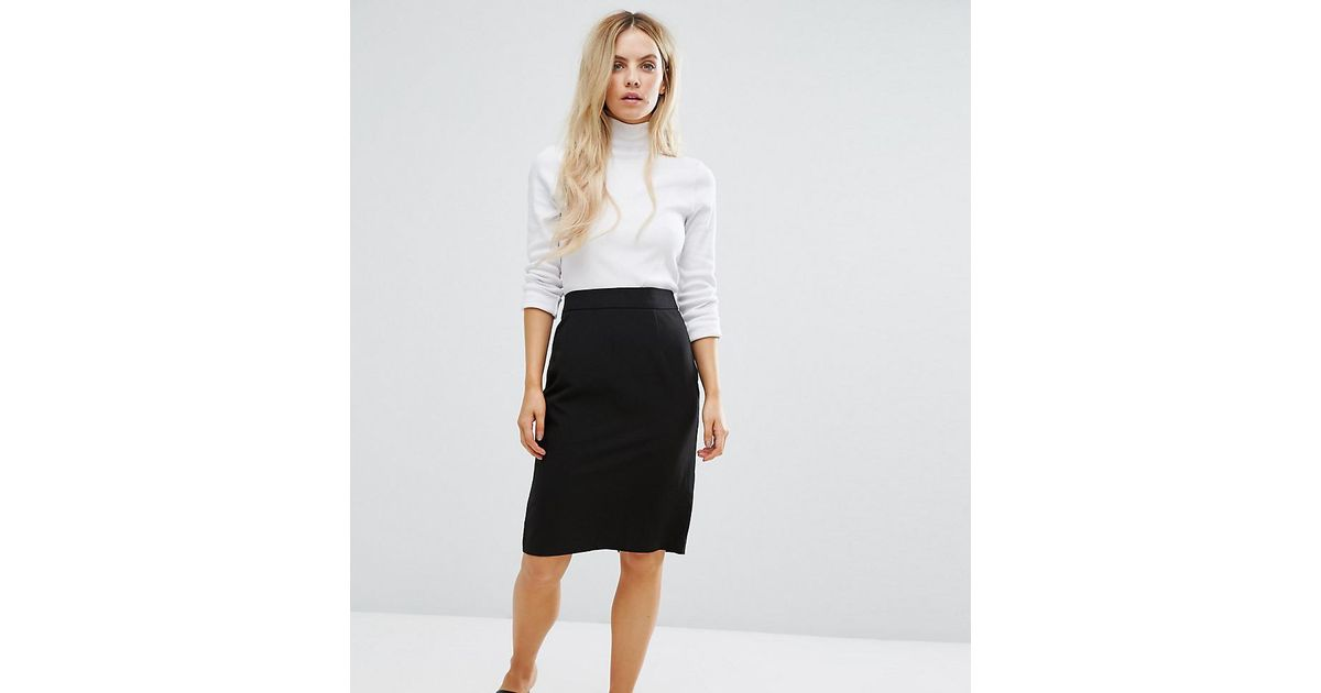 Lyst New Look Tailored Pencil Skirt In Black