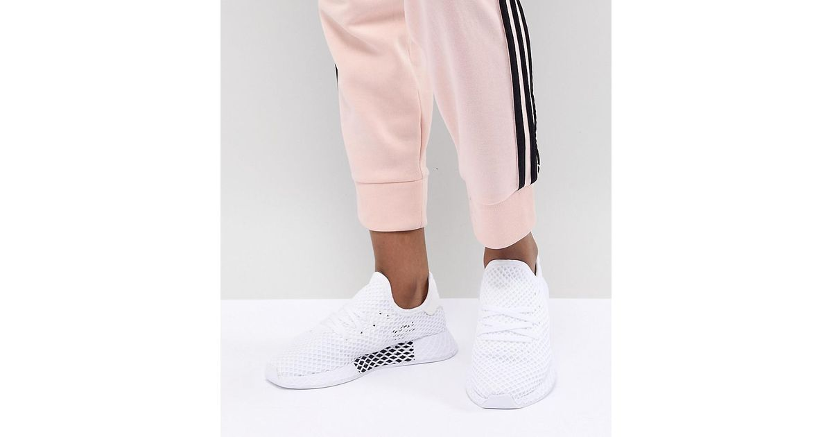 a0f468003 adidas Originals Deerupt Trainers In White in White - Lyst