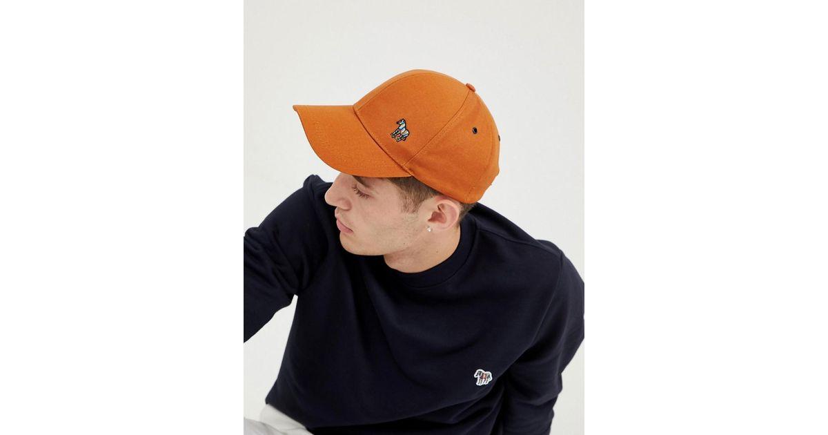f2643ce9202 PS by Paul Smith Zebra Logo Baseball Cap In Tan in Brown for Men - Lyst