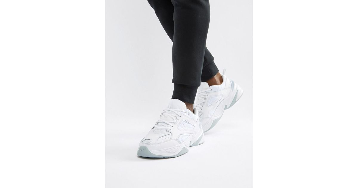 sale retailer f6658 9bd9a Nike M2k Tekno Trainers In White Av4789-101 in White for Men - Lyst