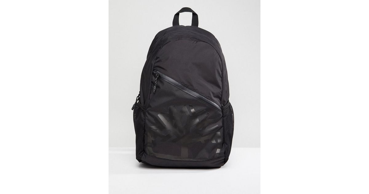 Timberland Large Logo Backpack Ripstop In Black for men