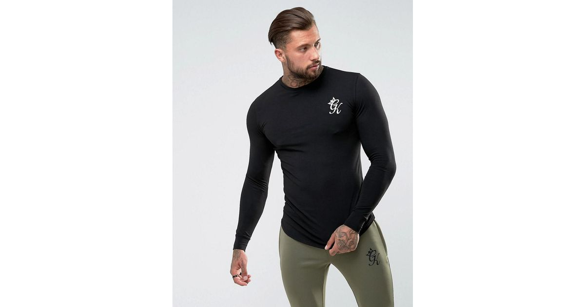 f15d39a3 Gym King Long Sleeve T-shirt In Muscle Fit in Black for Men - Lyst