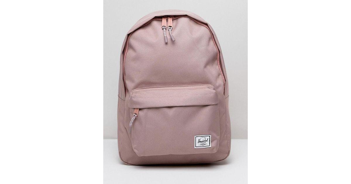 c7ec3933e Herschel Supply Co. Herschel Classic Mid Volume Pink Backpack in Pink - Lyst