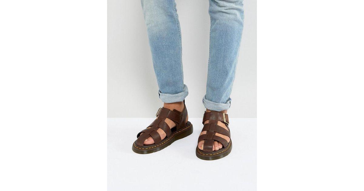 4331d32e7244 Dr. Martens Galia Carpathian Sandals In Tan in Brown for Men - Lyst