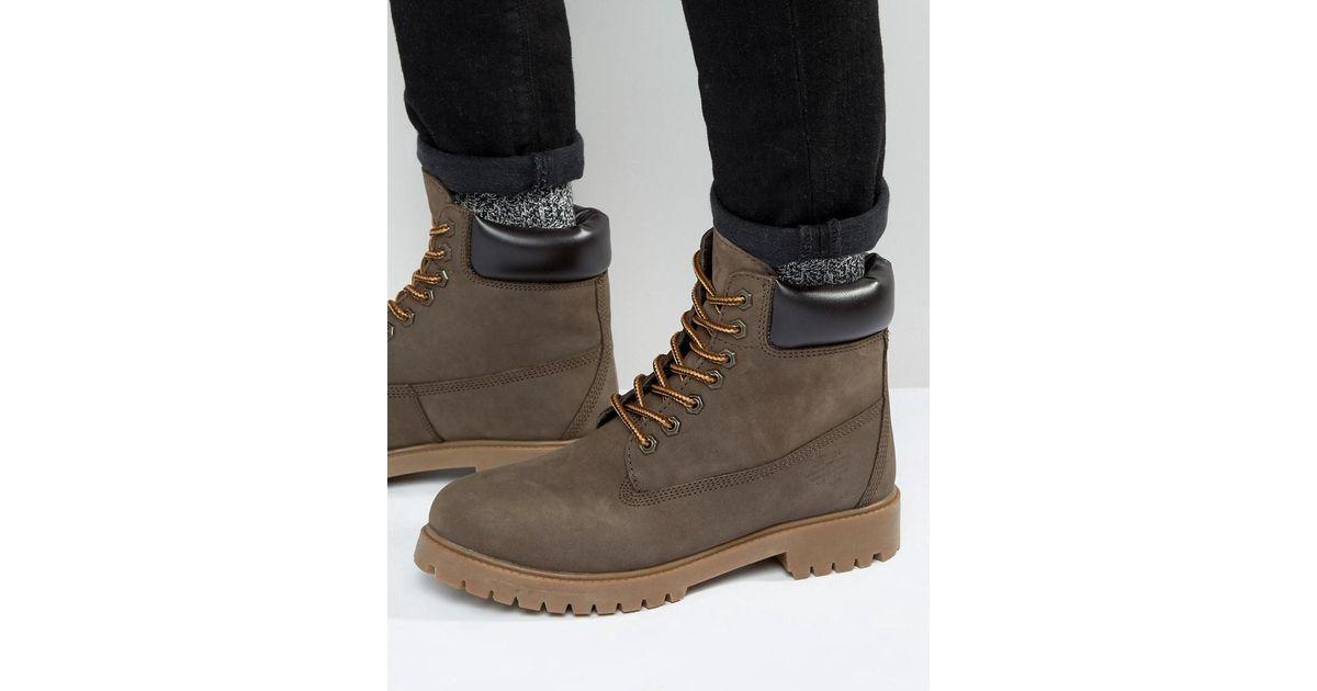 Worker Boots Brown - Brown Redtape t2bwyWl