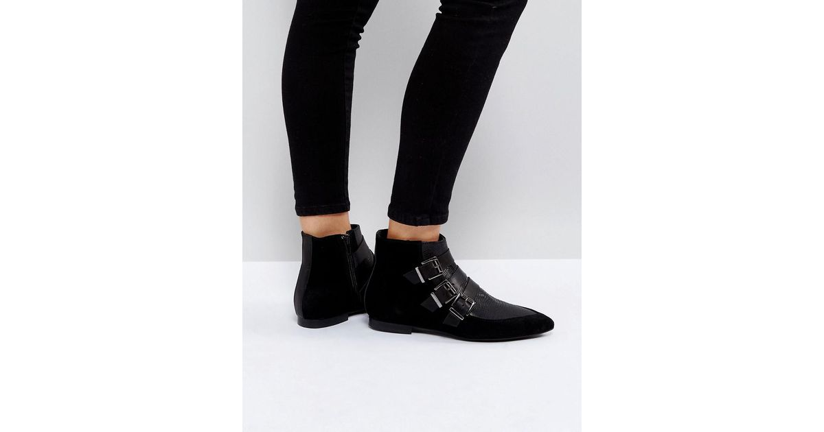 Pieces Suede Buckle Ankle Boots Tm0BnjZJC