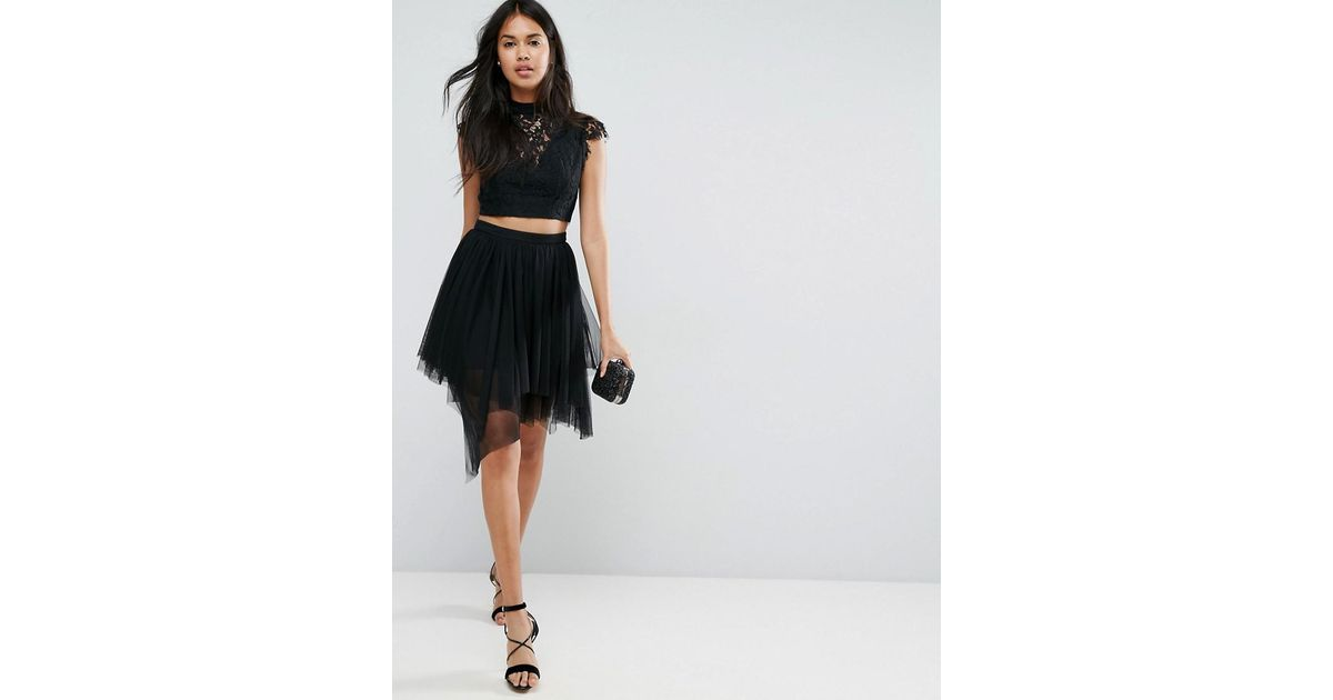 3c9629148453 ASOS Mini Tulle Skirt With Multi Length Layers in Pink - Lyst