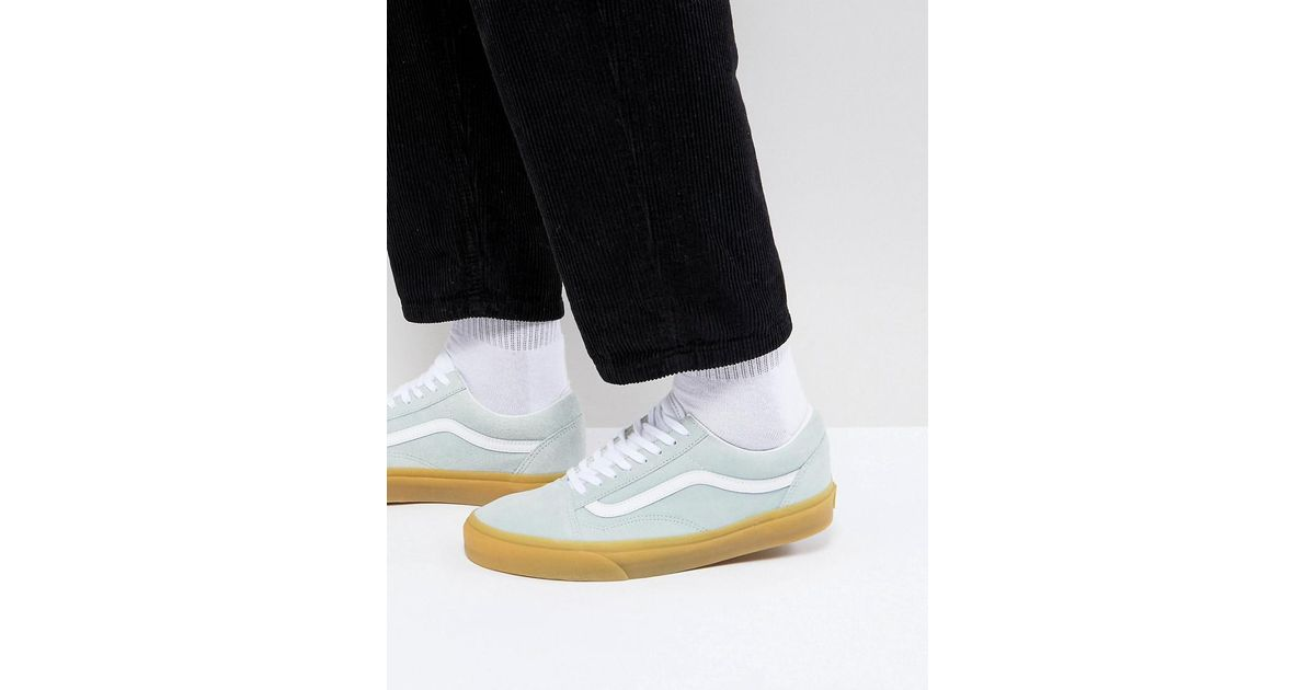ecb4ddc5fb Vans Old Skool Gum Sole Sneakers In Blue Va38g1qk8 in Blue for Men - Lyst