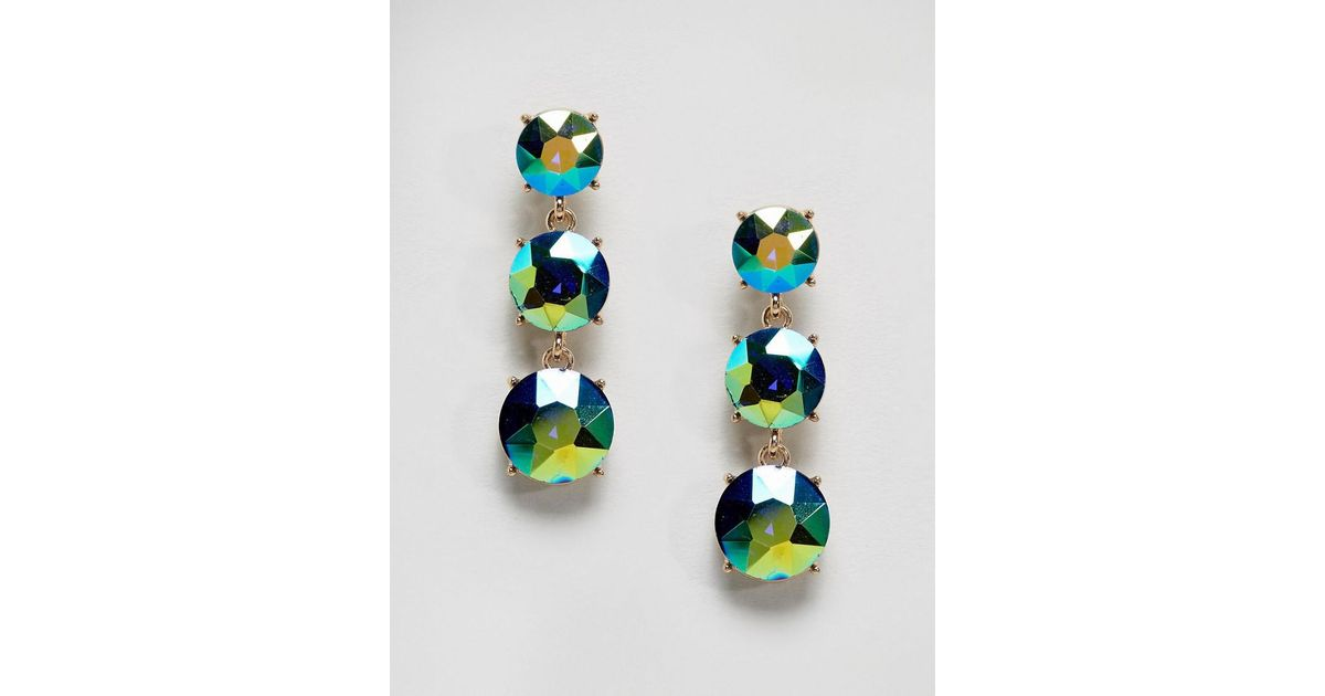 crystal pine curved pave sapphire jewel gemstone leaf blue multi colored marquise earrings statement