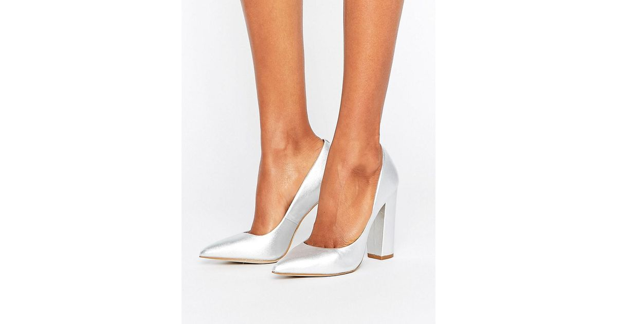 f64c3d44a70 Lyst - Steve Madden Primpy Metallic Block Heeled Shoes in Metallic